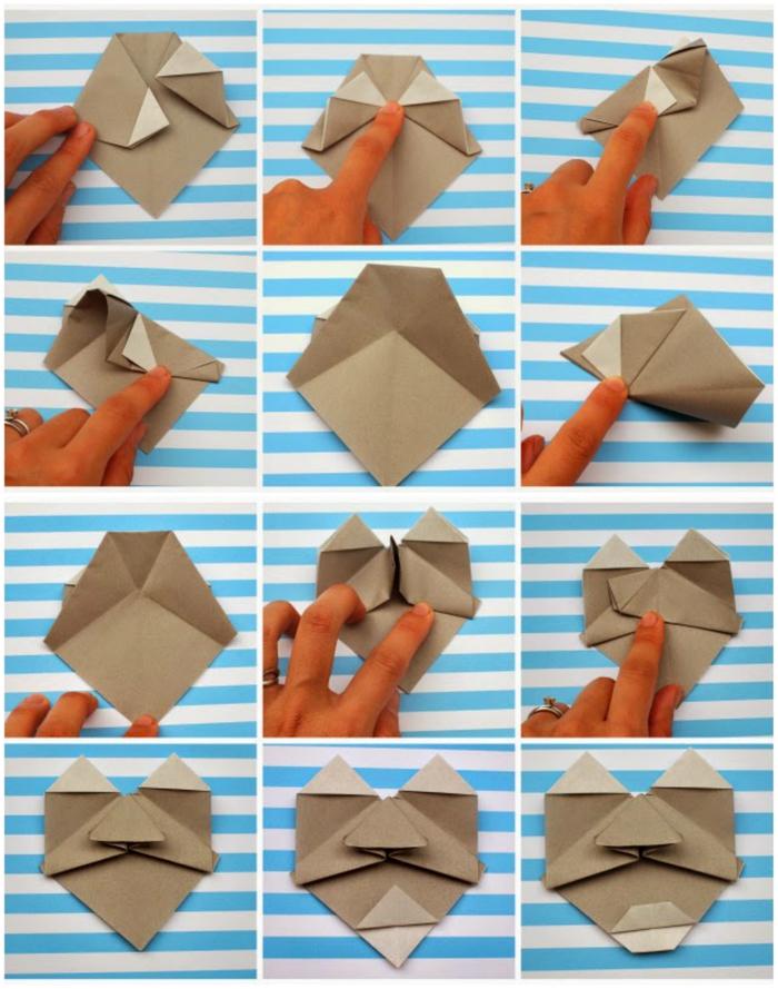 bricolage origami enfant ludique et intelligent pour réaliser des visages de personnages rigolos en origami
