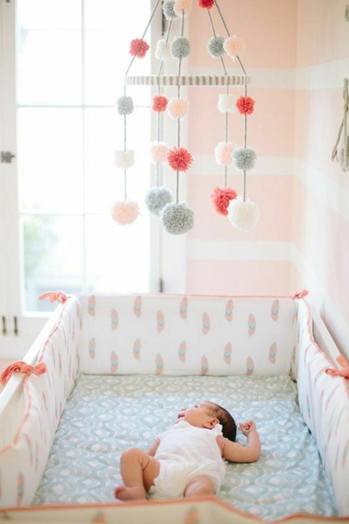 Chambre Fille Saumon : Idées pour la décoration chambre bébé fille