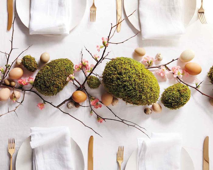 Deco paques déco de Pâques idée comment décorer la table de paques