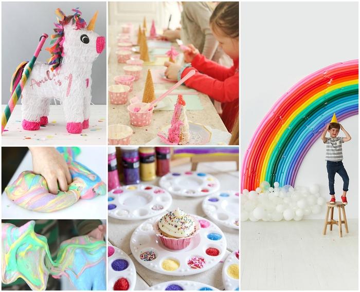 idées d'activités amusantes et créatives pour animer un anniversaire theme licorne fille