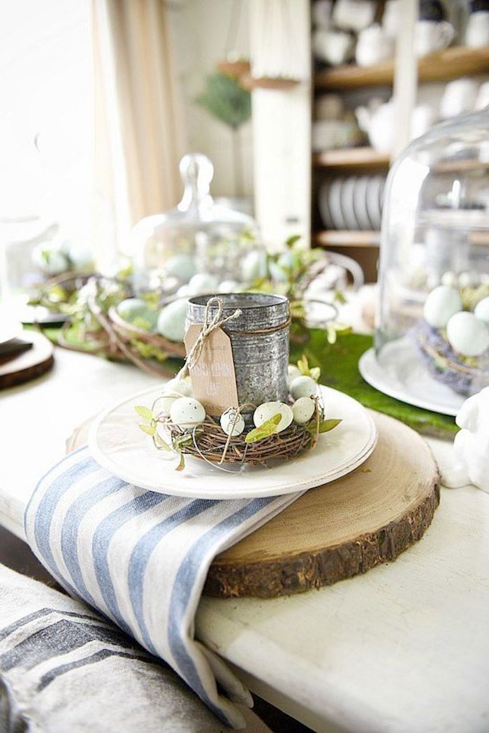 Activité manuelle paques déco de Pâques belle déco paques deco de table rustique paques