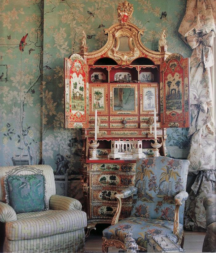 meubles anciens pour une deco ethnique asiatique, decoration exotique retro avec ancienne commode chinoise