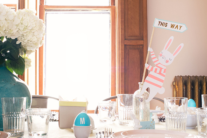 Deco table paques déco de Pâques activité paques table bien arrangée paques décoration