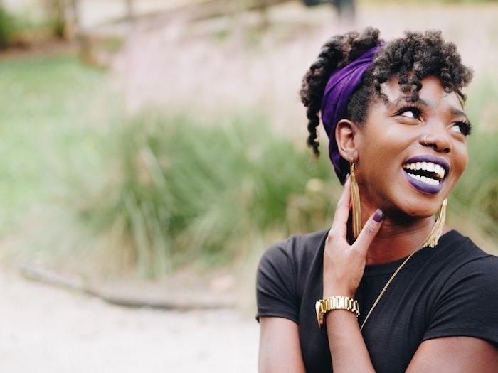 Meche femme coiffure afro femme grosse tresse africaine echarpe chignon haut