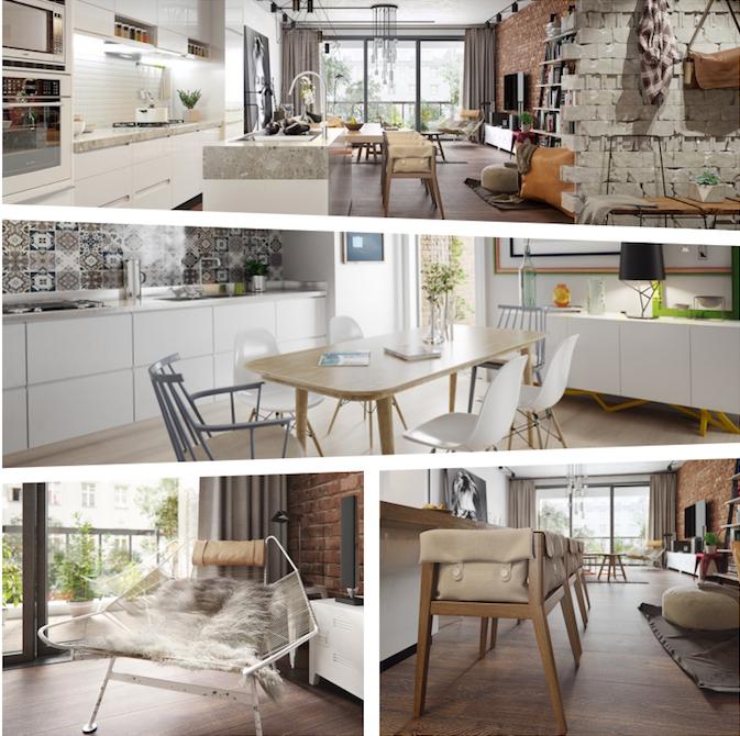 Cadre deco scandinave meuble bas scandinave deco style