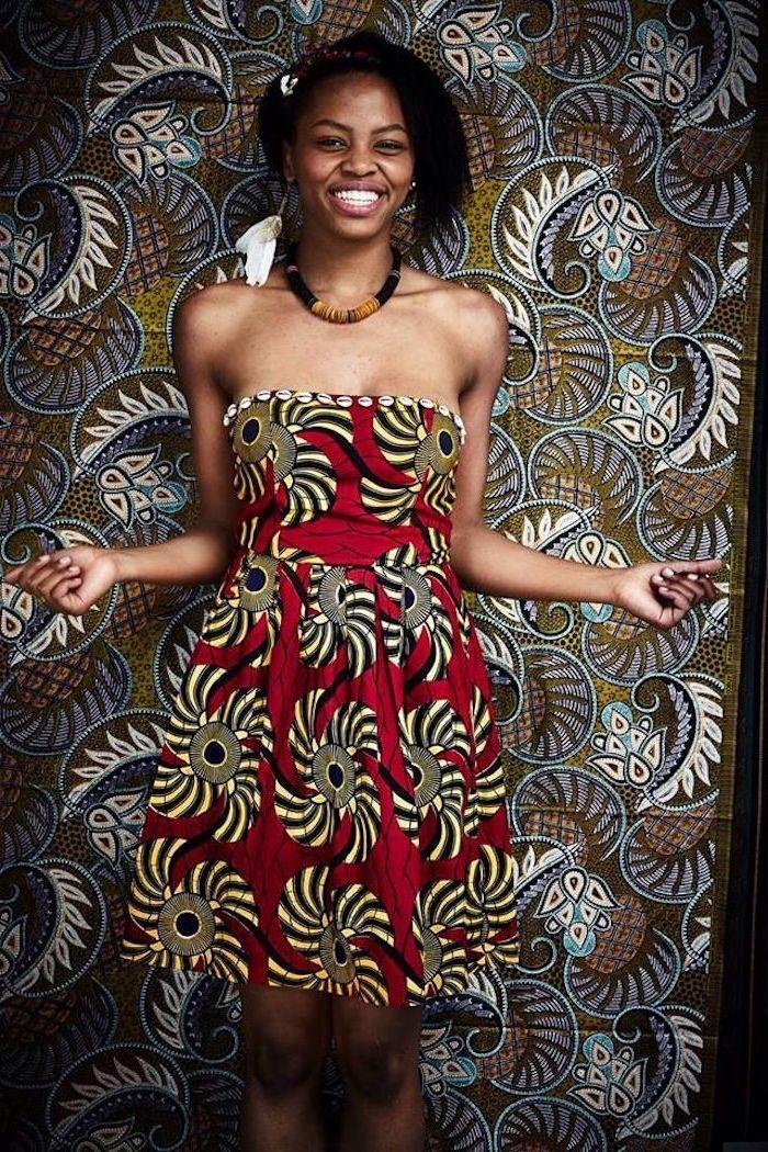 Belle robe africaine chic 2018 tendance de printemps 2018 robe bustier