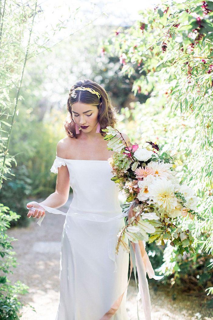 Belle robe de mariée champetre robe de mariée simple tendance