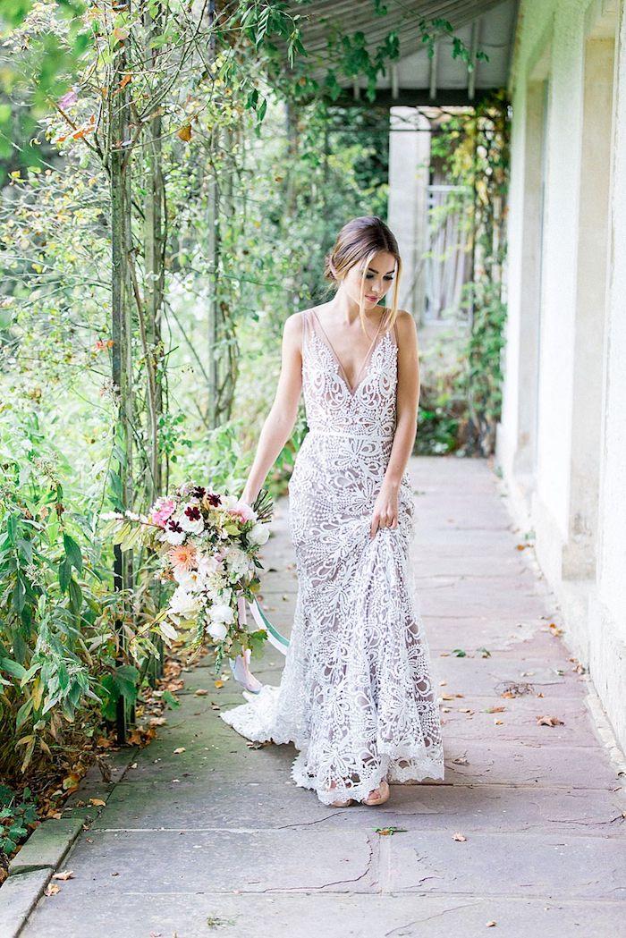 Une robe champetre chic robe de mariée vintage la plus belle robe de mariage
