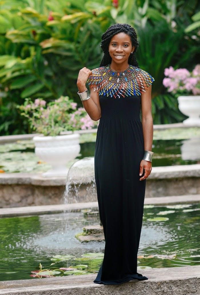 Tendance tenue africaine chic femme robe de soirée africaine chic robe longue noire