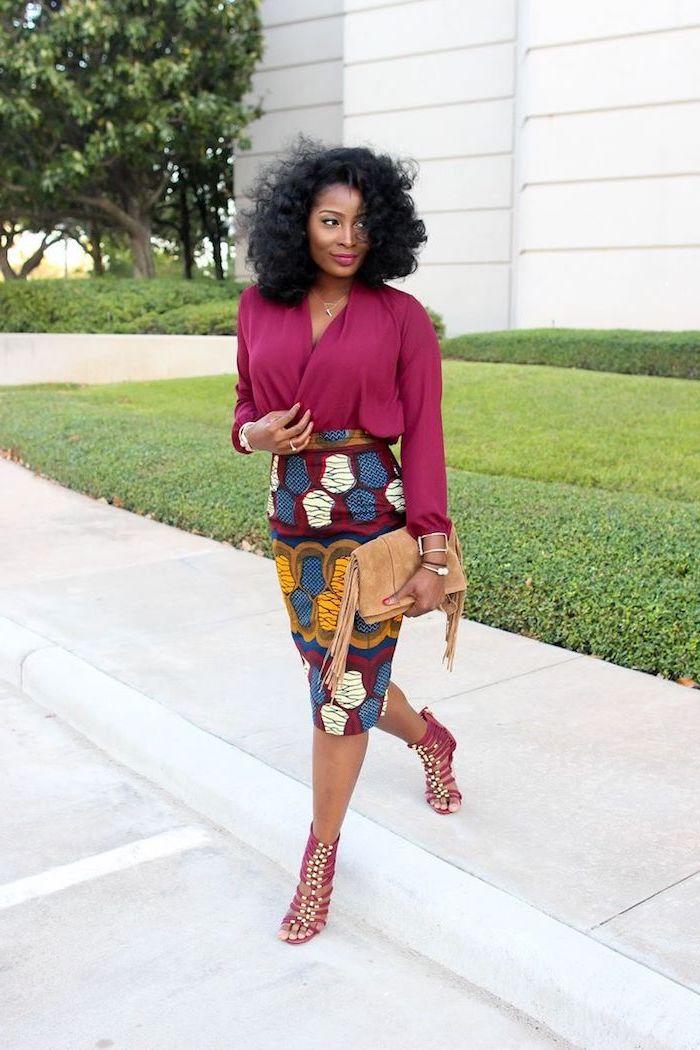 Vintage tenue africaine chic femme robe ethnique africaine chic