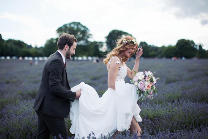 Romantique idée robe de mariée champetre robe de mariée simple tendance longue robe top dentelle jupe fluide