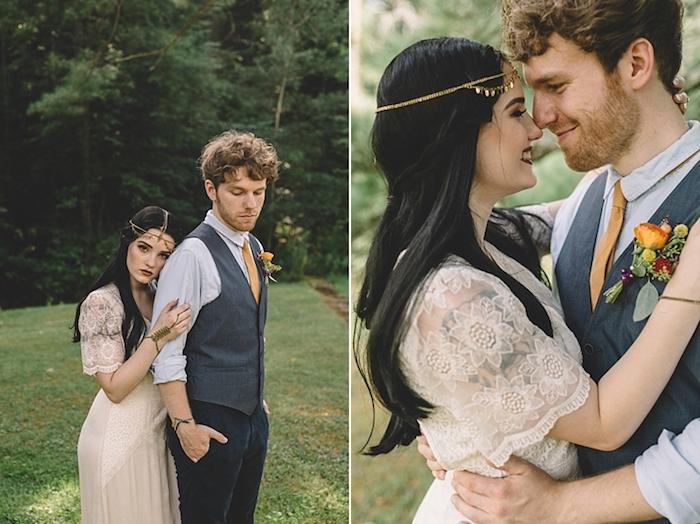 Bohème robe de mariage civil chic robe de mariée simple gypsy inspiré mariage