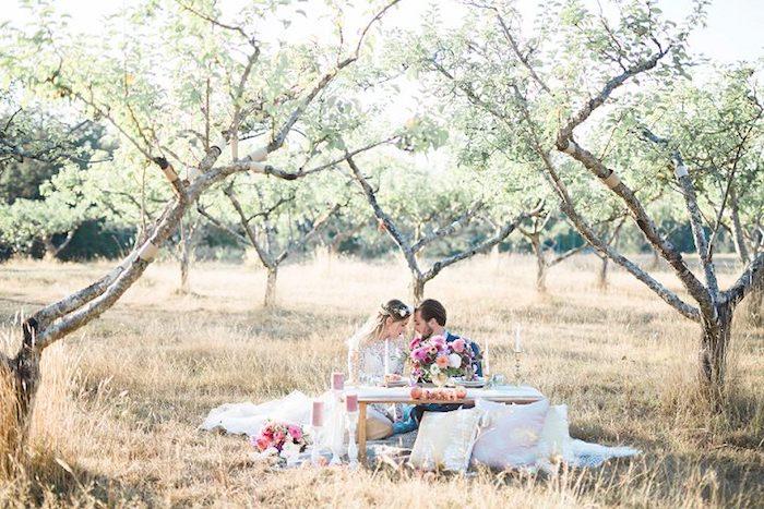 Bohème mariage robe de mariée fluide robe de mariée simple pique nique bohème mariage