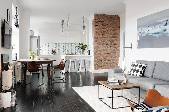Deco style nordique deco scandinave hygge deco scandinave decoration cuisine ouverte à la salle de séjour