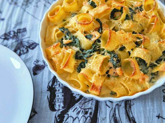 repas minceur avec des cannelloni italiens aux épinards, soirée pasta, plats riches en fibres, repas dietetique, idée cool pour un repas rapide au soir
