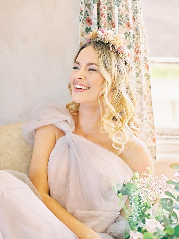 Robe mariée créateur robes de mariée originale femme la mariée robe rose