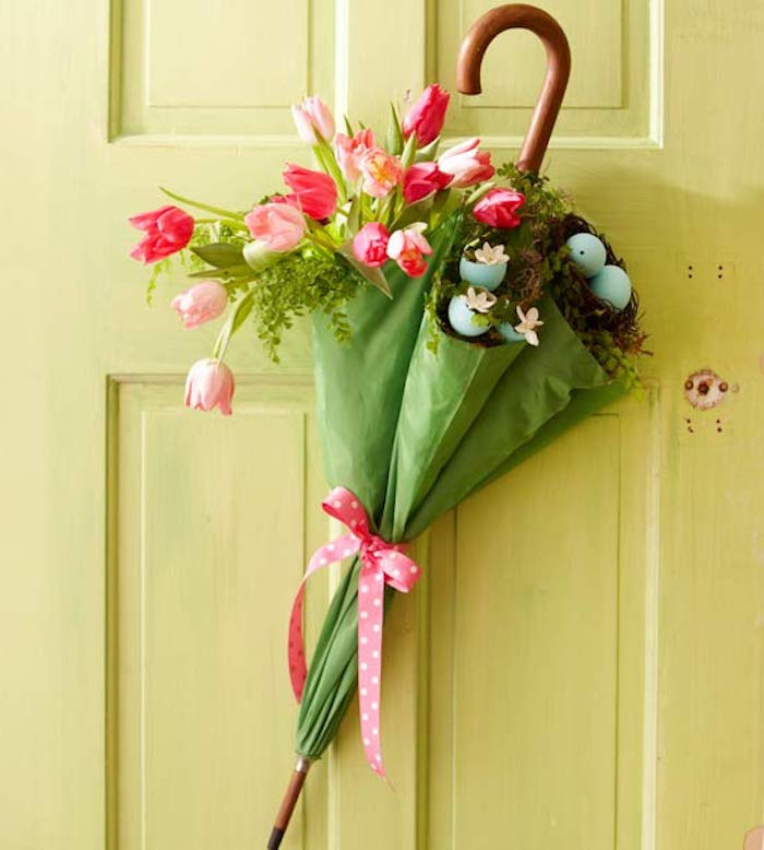Deco porte paques fleurs deco de paques festive déco chambre