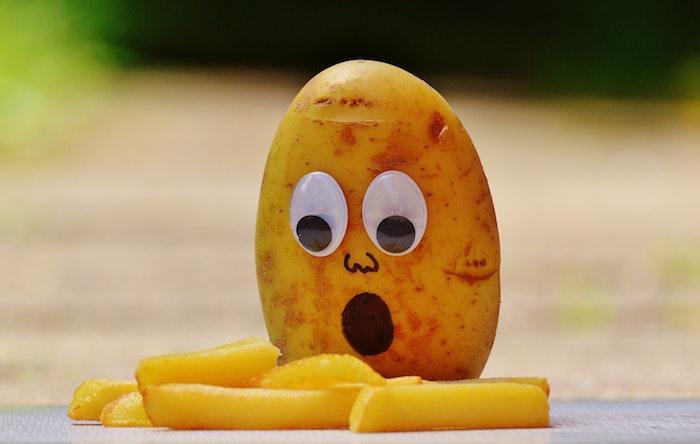 Drole fond d écran marrant fond d écran humour fond d écran sympa pommes frites et pomme de terre surpris