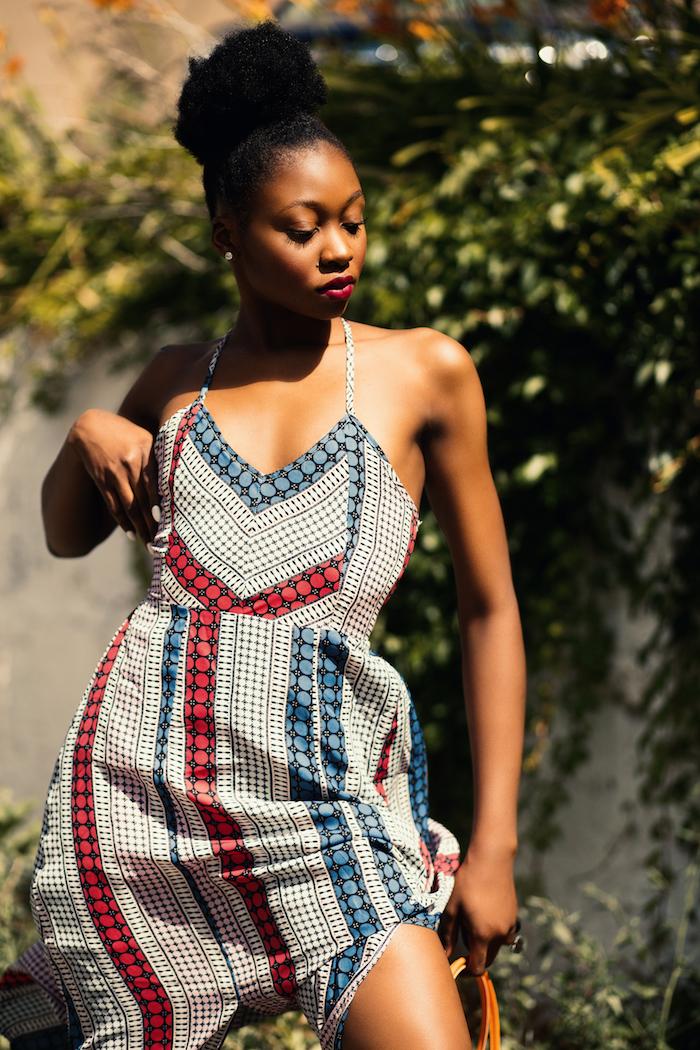 Adorable tenue africaine femme chic robe en pagne africain chic robe d'été