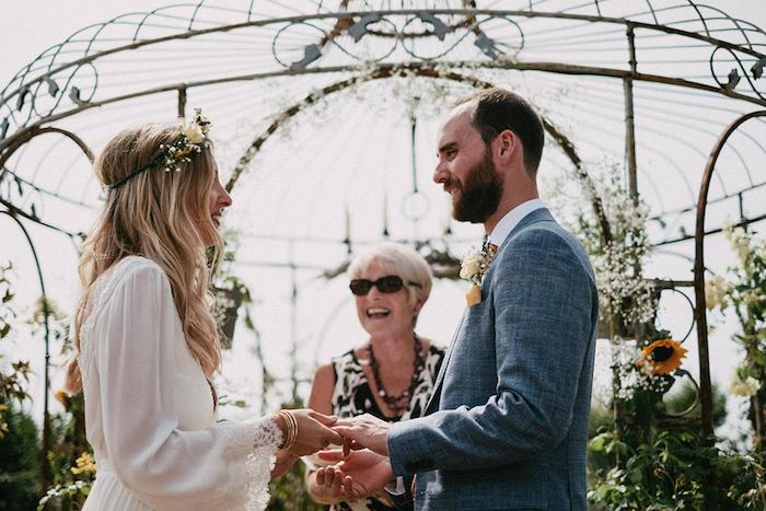 Amoureuse mariée robe boheme mariage robe de mariée simple tendance 2018