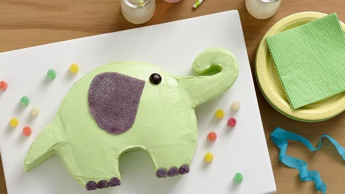 comment faire un gateau anniversaire facile en forme d'éléphant