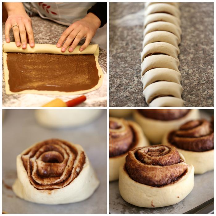 recette pas en pas pour réaliser un roulé au nutella facile et rapide, recette de mini-brioches au nutella
