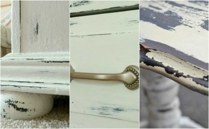 comment repeindre un meuble en bois, table, armoire et commode avec tiroirs peints blanches