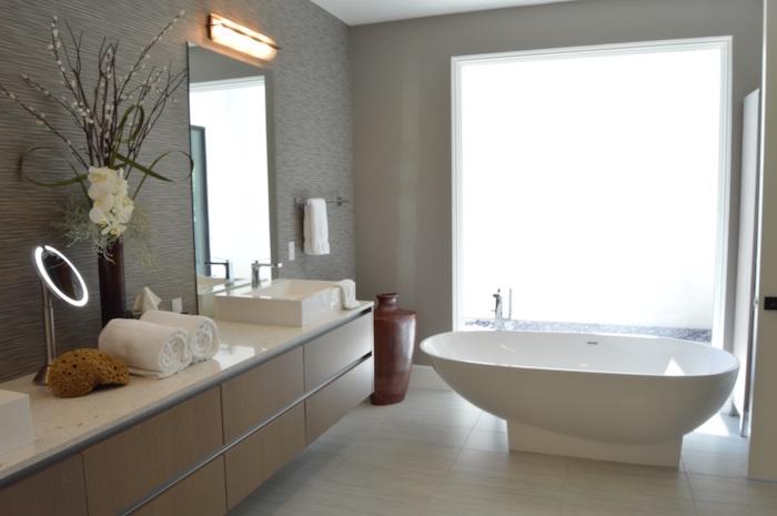 ▷ 1001 + idées | Salle de bain beige et gris – pierre ...