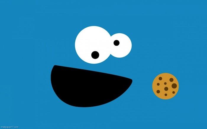 Theme cookie monstre fond d écran bleu fond ecran drole fond d écran comique cool image
