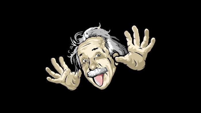Fond d écran sympa avec Albert Einstein fond d écran comique photo amusante hd