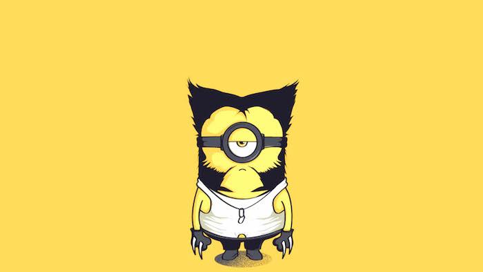 Fond d'écran minion qui se transforme en wolveline fond d'écran ordinateur original fond d'écran jaune pour fille