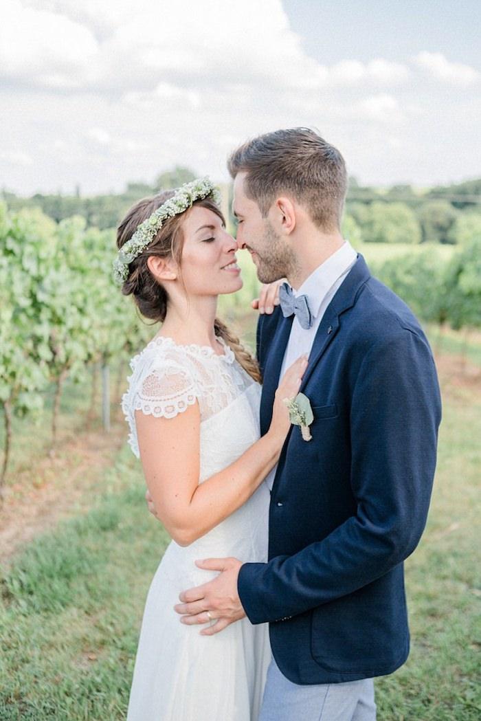 Cool tendance robe de mariée champetre robe de mariée vintage