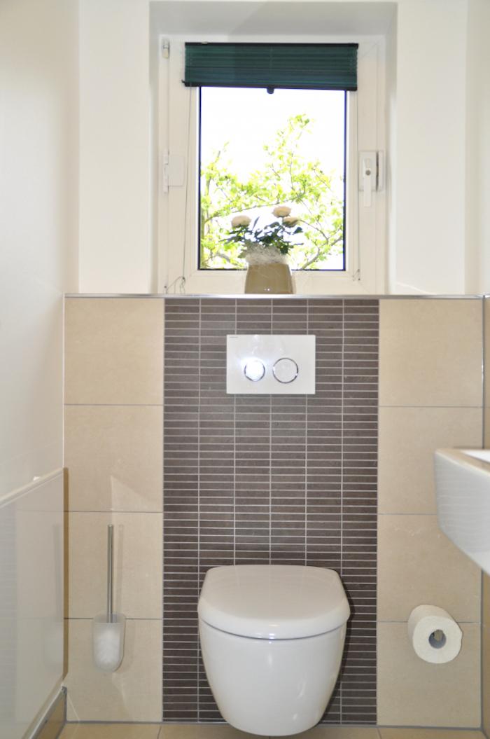 Quelle Couleur Pour Carrelage Wc Faience Murale Toilettes Beige Et Anthracite Salle De Bain