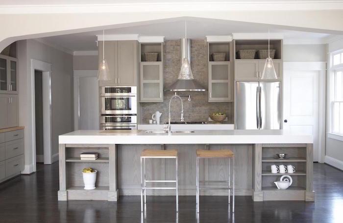d233co cuisine gris et blanc � sobre et efficace � obsigen
