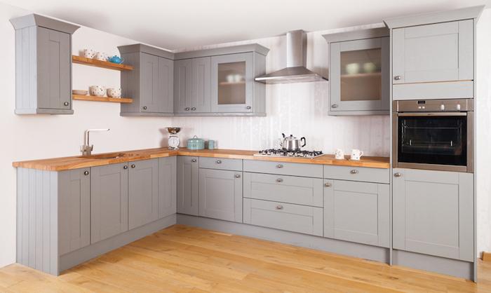 1001 id es cuisine grise et bois ar mes tendance et. Black Bedroom Furniture Sets. Home Design Ideas