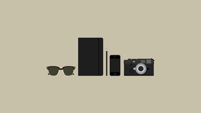 Appareil de photo lunettes hipster fond d'écran simple image pour fond d'écran pour fille