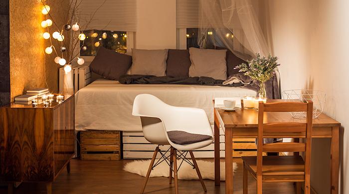 Mobilier scandinave deco style nordique meuble nordique déco nordique beau salon table à manger canapé en palettes