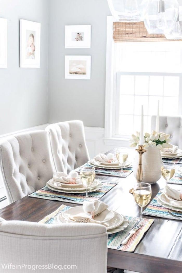 Activités manuelles paques decoration paques facile table rangée avec du style pour paques