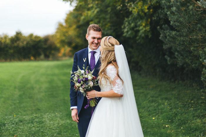 Délicat robe champetre chic robe de mariée vintage idée robe longue