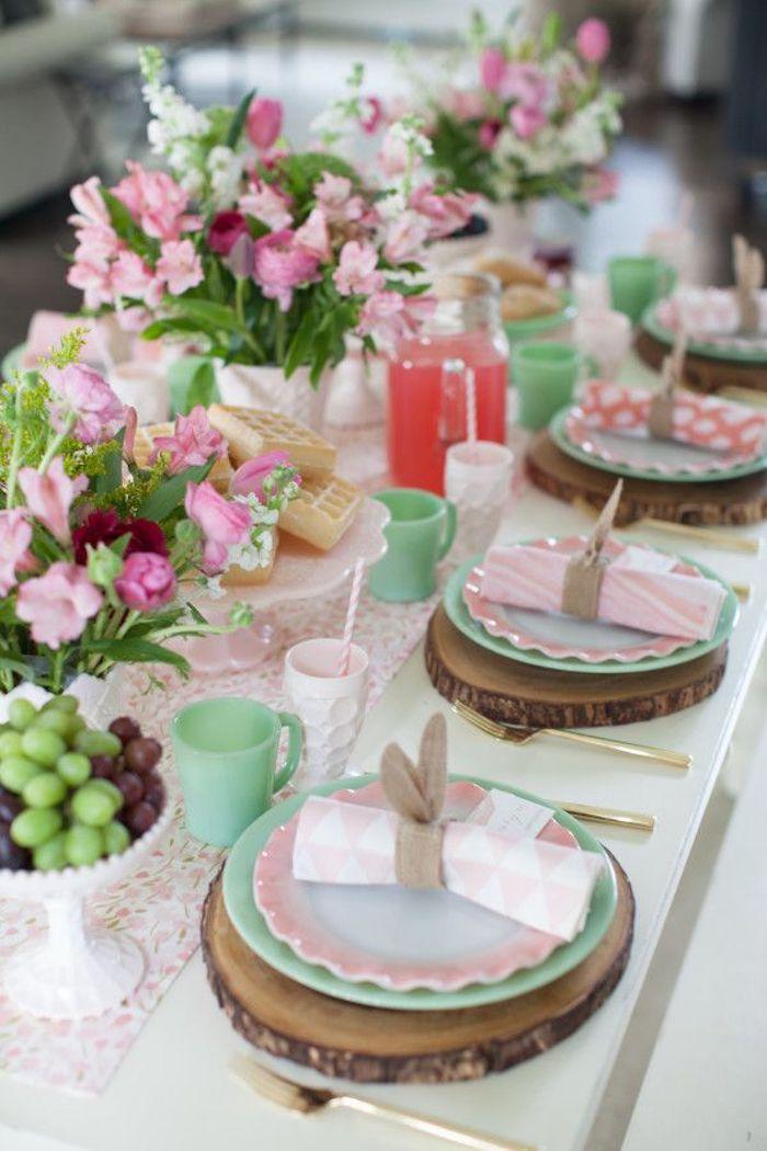 Bricolage paques facile decoration paques facile comment décorer la table de paques idée printemps en rose
