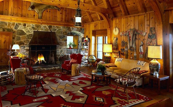 modele de tapis ethnique maison du monde, objet zen deco d'inde, décoration maison d'apaches, chalet en bois indiens du canada