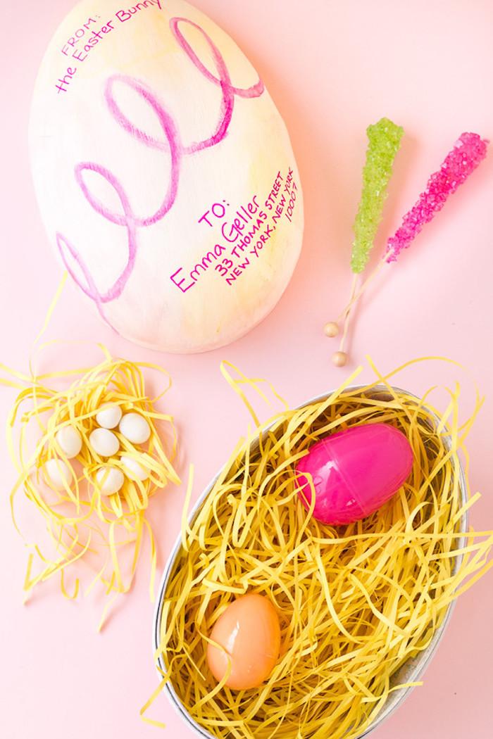 Deco de paques idée déco de Pâques décoration facile oeufs décorées