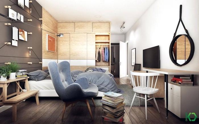 Intérieur scandinave déco chambre à coucher nordique deco murale scandinave stylée