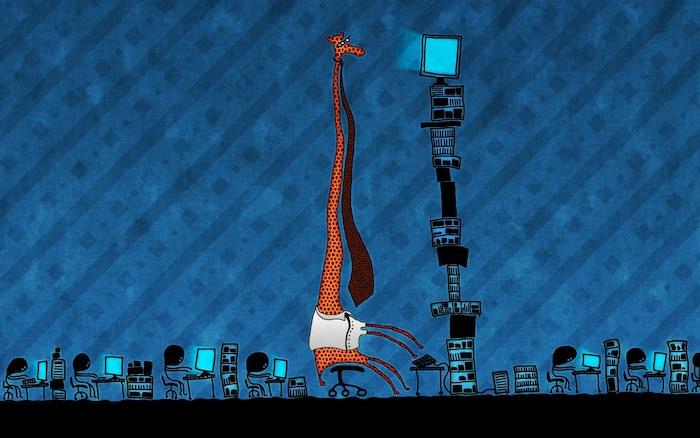 Fond ecran 2018 giraffe au bureau fond d écran humoristique wallpaper drole idée
