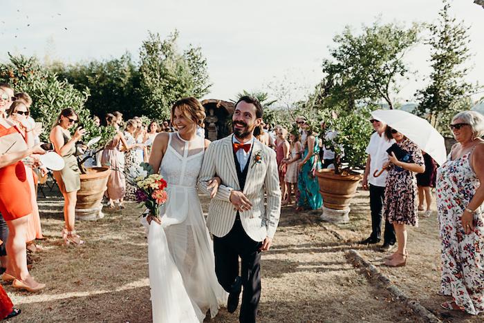 Formidable robe de mariée fluide robe mariee boheme moderne