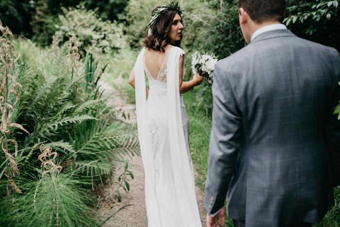 Idée de robe mariée bohème chic robe de mariée fluide robe de mariée longue jolie
