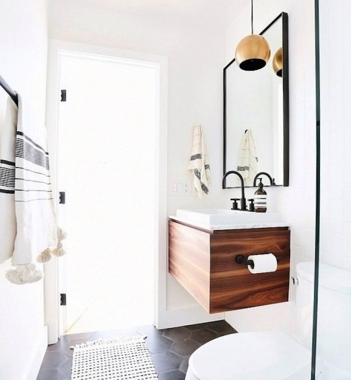1001 astuces et id es d 39 am nagement petite salle de bain 2m2. Black Bedroom Furniture Sets. Home Design Ideas