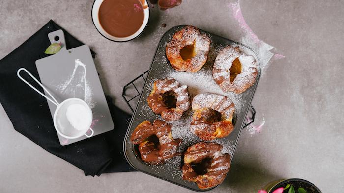 faire du pain maison au lair avec de la nutella et sucre glace pour topping exemple de dessert au nutella facile a faire