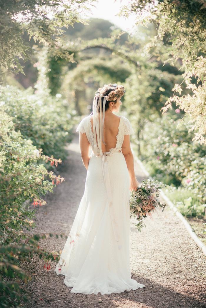 Amour robe de mariée bohème robe de mariée simple beauté