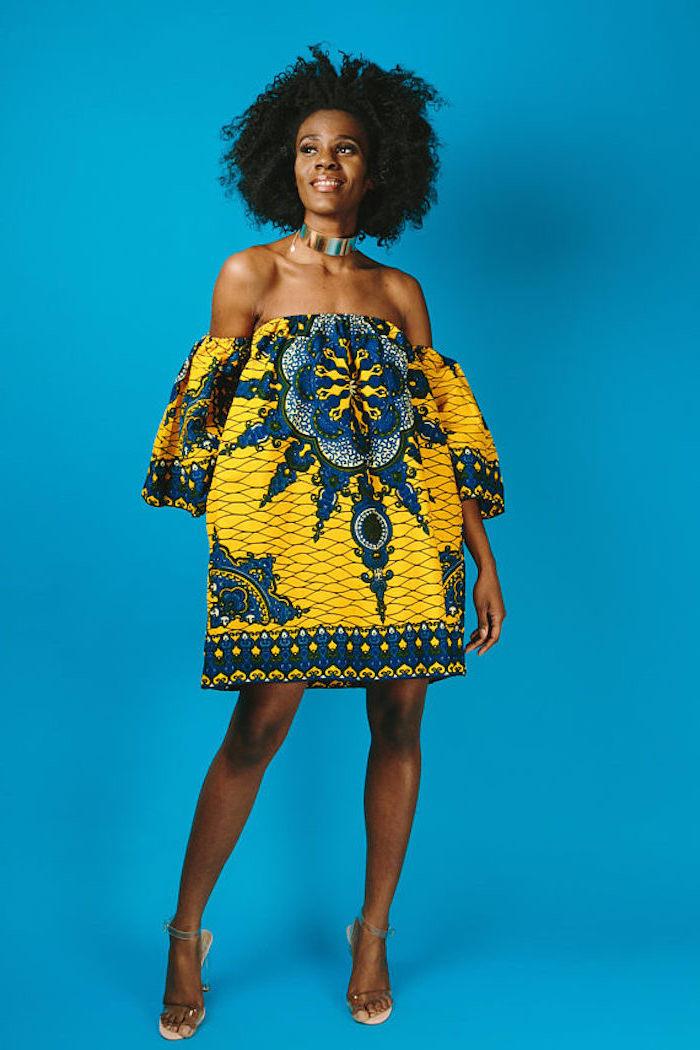 Comment s'habiller aujourd'hui modele robe africaine chic tenue